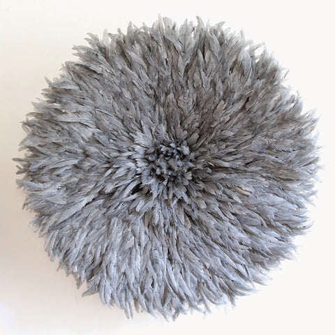 Grey JuJu Hat Feather Headdress