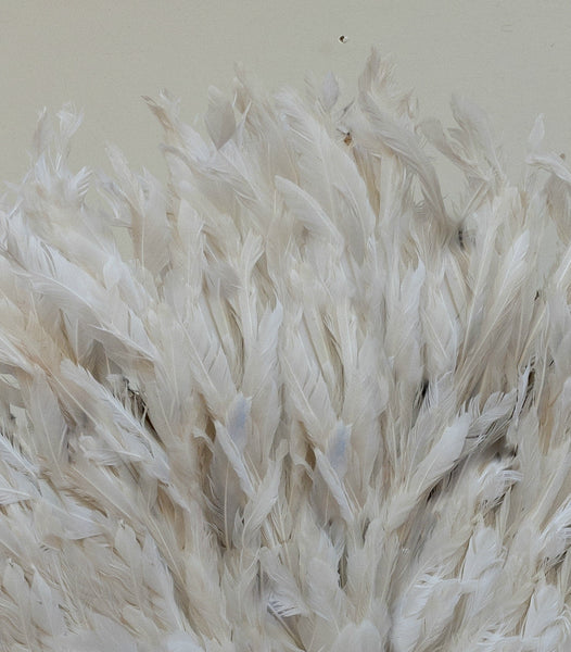 White JuJu Hat Feather Headdress