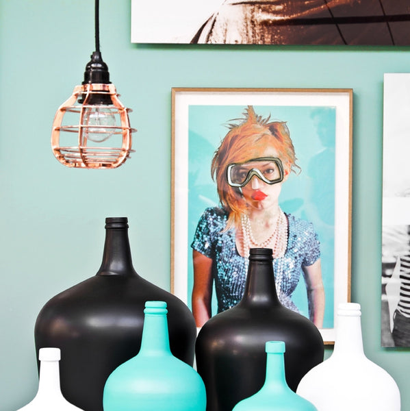 Large-Black-Glass-Bottle by HK Living from White Punch UK