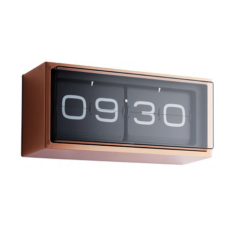 LEFF Amsterdam Brick Flip Clock Copper