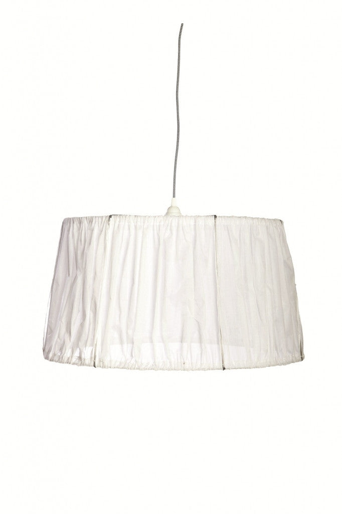 Raw white cotton lampshade from White Punch