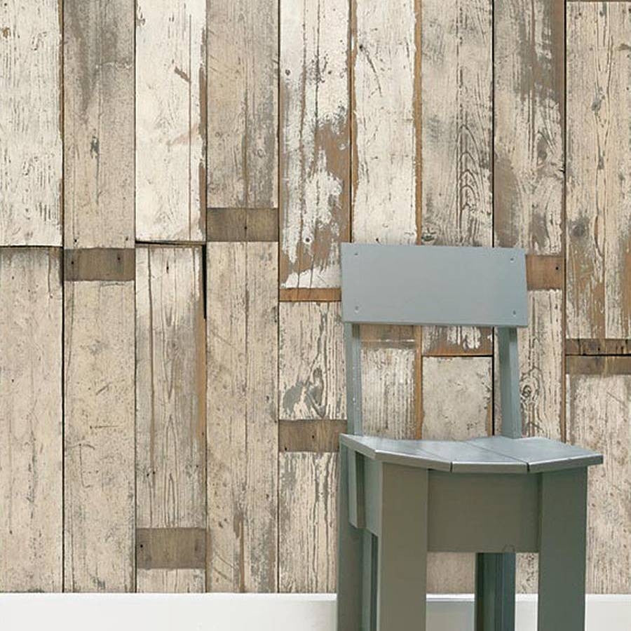 Scrap Wood Wall Paper 02 by Piet Hein Eek