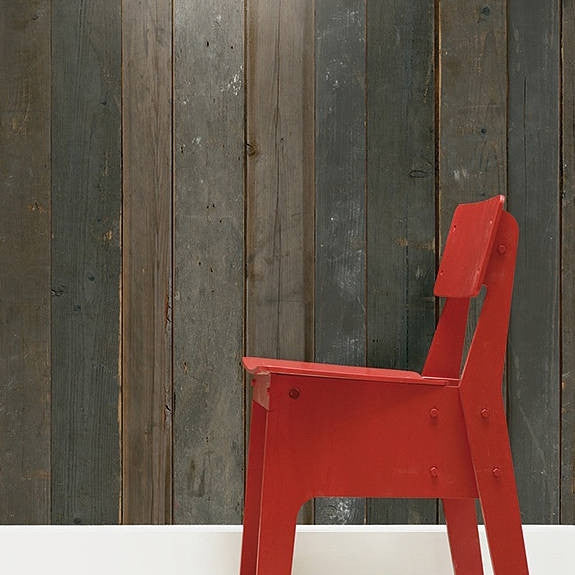 Scrap Wood Wall Paper 04 by Piet Hein Eek