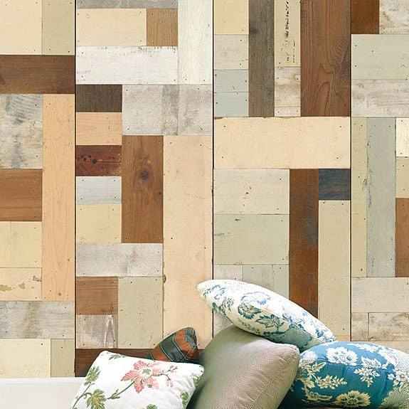 Scrap Wood Wall Paper 05 by Piet Hein Eek