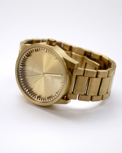 Leff Tube Watch Brass