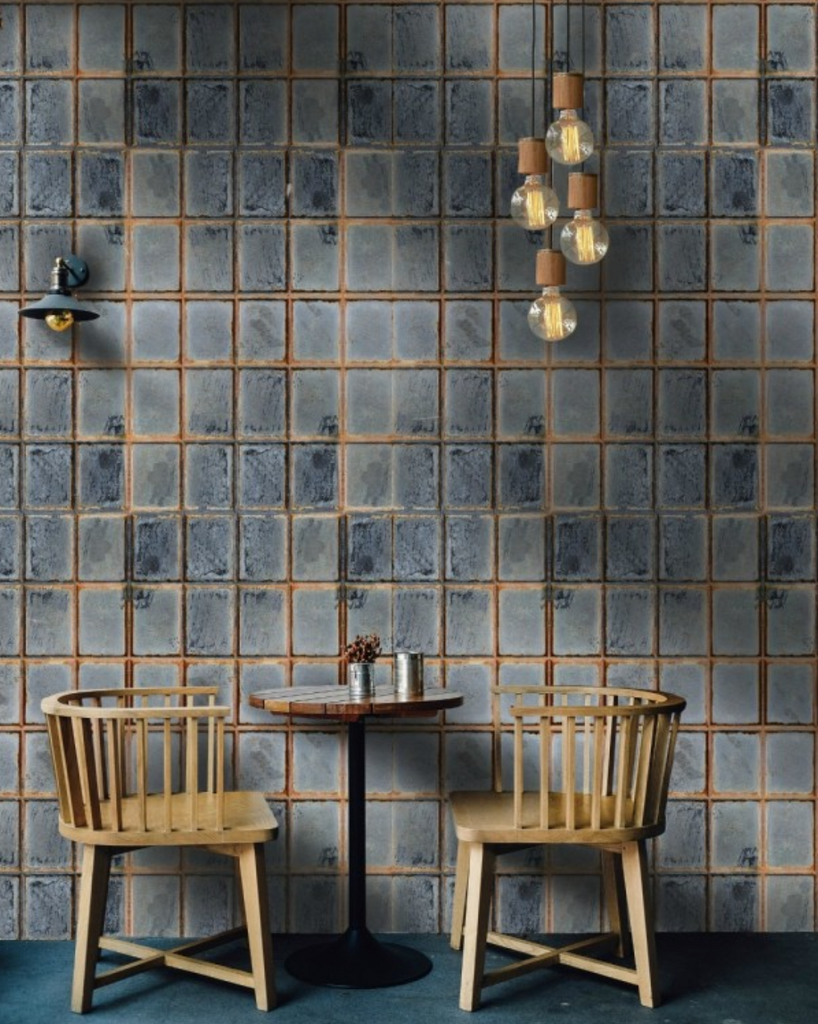 Mind The Gap Foundry Wall Wallpaper from White Punch