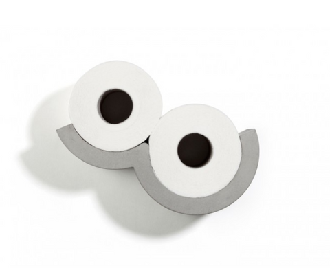 Cloud - the CONCRETE Toilet Paper Holder from White PUNCH