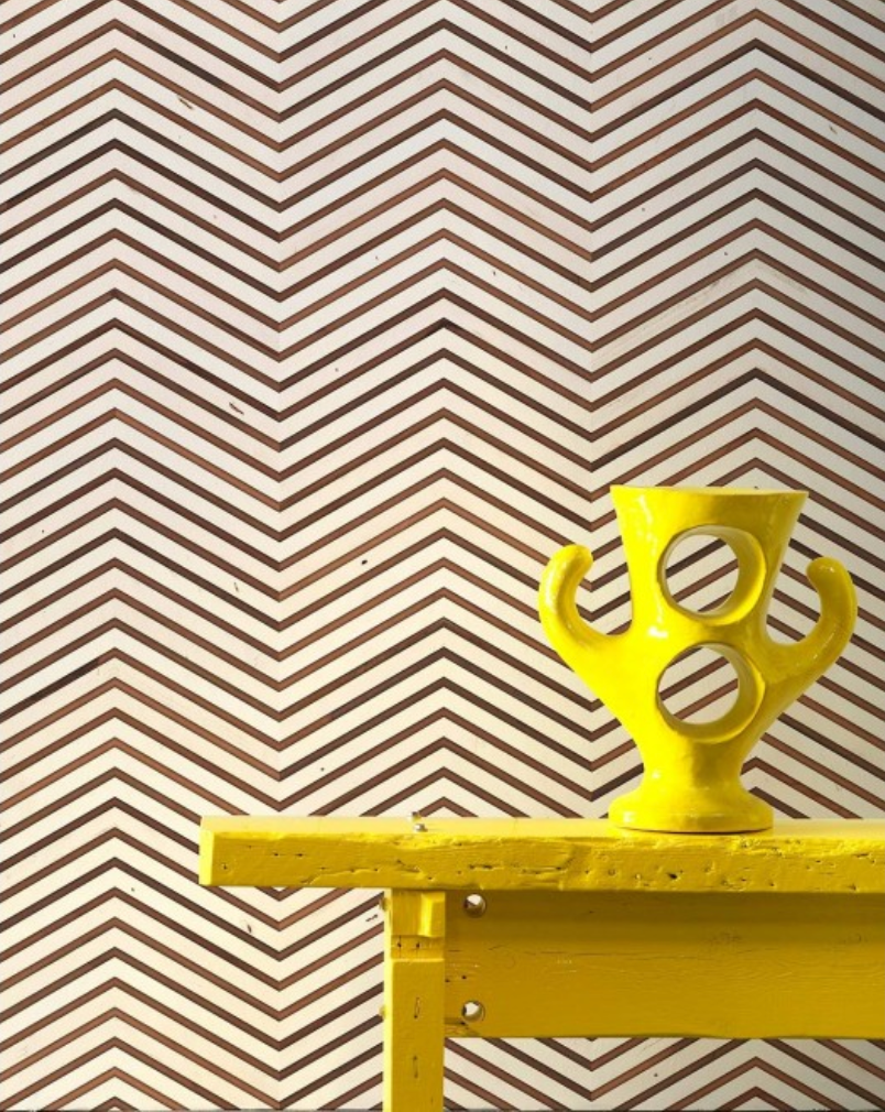 Scrapwood On Teak Chevron Wallpaper Piet Hein Eek