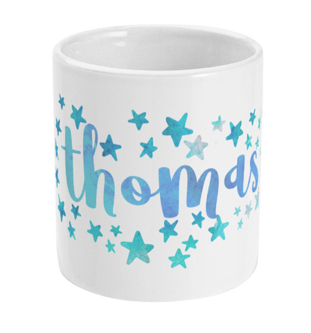 Personalised Star Mug Blue