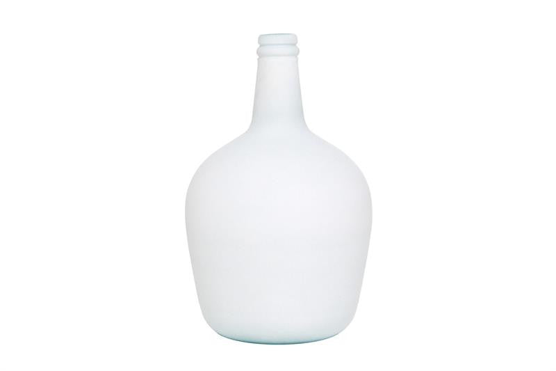 White /Duck egg blue 4 Litre Carafe Glass Bottle from HK Living