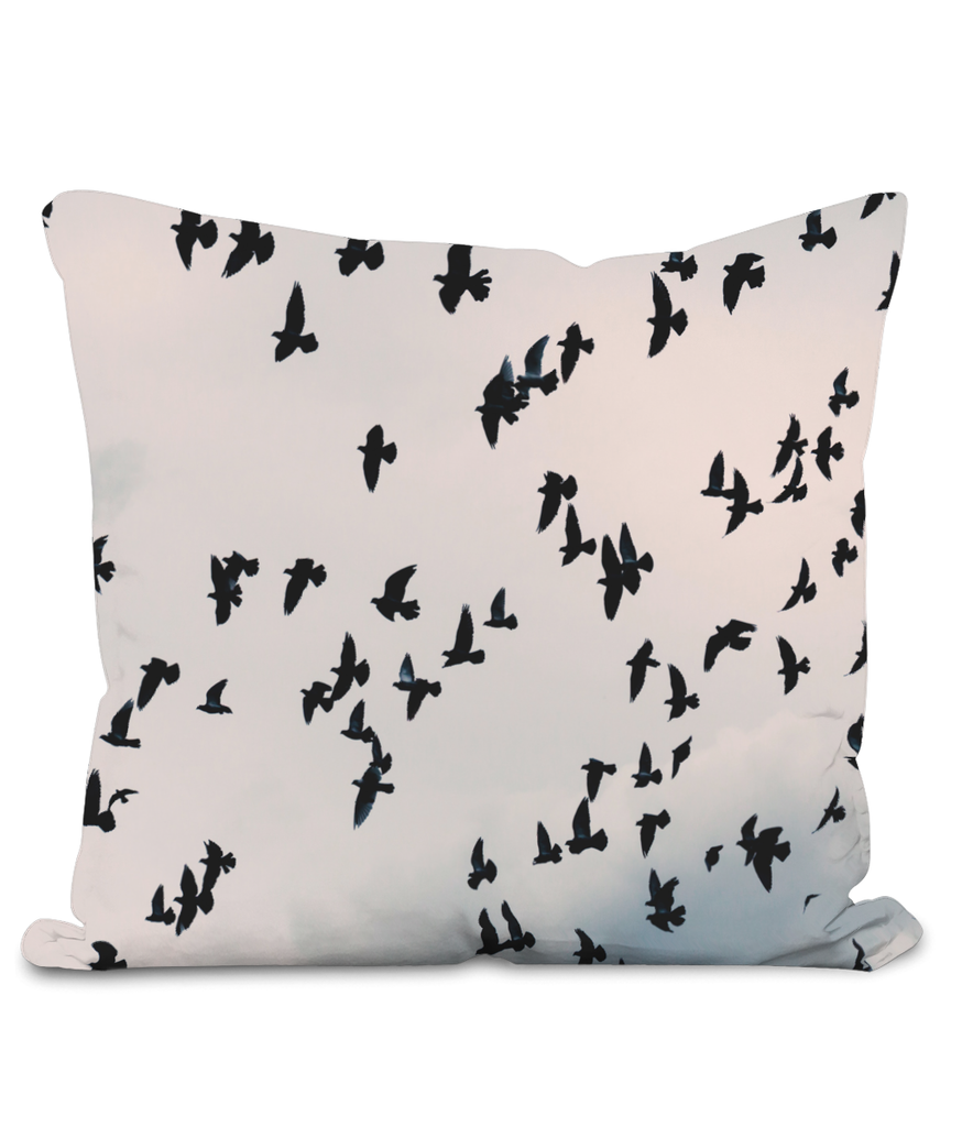 Flock of Birds Throw Cushion