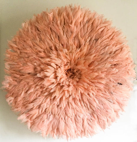 Salmon Pink JuJu Hat Feather Headdress