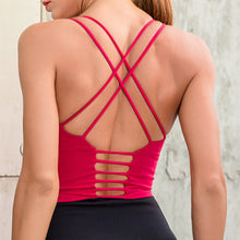2020 Thin Shoulder Strap Shock-proof Dance Running Fitness Bra Back Cross Sexy Yoga Vest Women Gather Sports Bras Tops