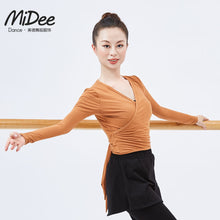 Manufacturer Direct Selling Dance Training Clothes Long Sleeve V-neck Modern Dance Sports Yoga Crop Top Shirt Adult Autumn Winter Wear