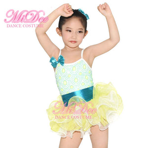 MiDee Child Ballet Girls Tutus Performance Dance Outfit Stage Clothes