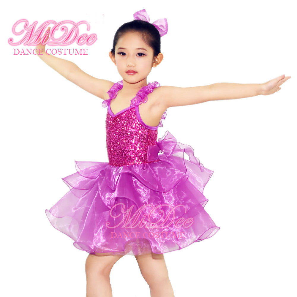 5fd8b3d79552 ... MiDee Stage Dance Clothes Ballet Dance Outfit Lyrical Solo Dance Dress  For Girl Party Dance Dress ...