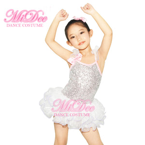 MiDee Children Ballet Tutu Dance Dress Contemporary Ballroom Dance Clothing
