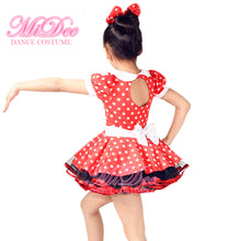 MiDee Polka Dot Pattern Kids Dresses Stage & Dance Wear Ballroom Dance Outfits