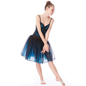 MiDee Performance Dance Dress Ballet Lace Dresses Dancewear For Girls