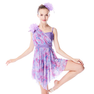 MiDee Floral Lyrical Dress Contemporary Costume Modern Dance Dresses