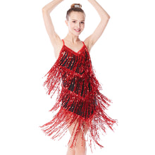 MiDee Latin Dance Dresses Sequin Fringe Costume Ballroom Dancing Dresses