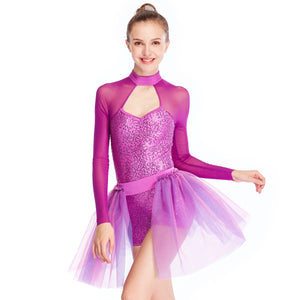 7766b6e41 MiDee Sequins Modern Lyrical Dance Costumes Gymnastics Performance Costumes