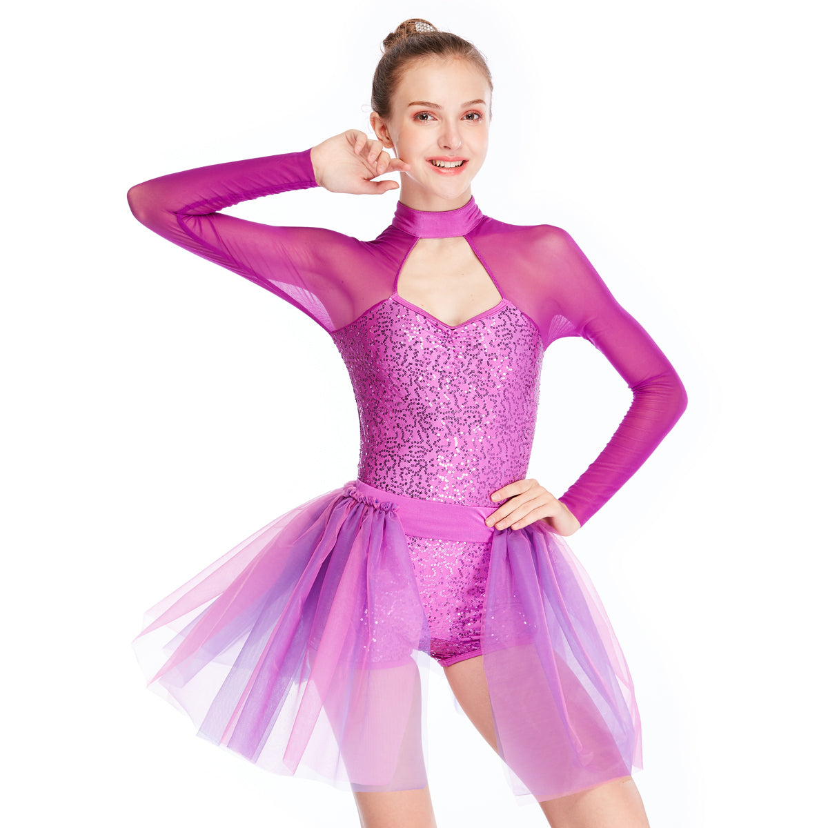b0e9cb6df ... MiDee Sequins Modern Lyrical Dance Costumes Gymnastics Performance  Costumes ...