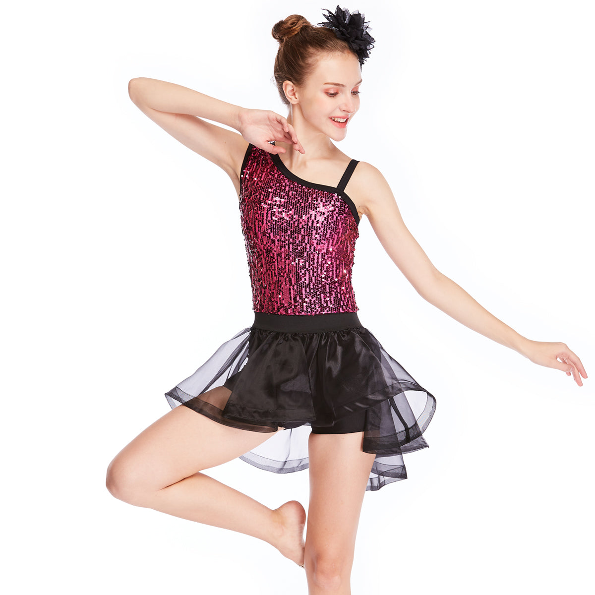 285eb87a9 ... MiDee Sequins Ballet Tutu Stage Performance Costumes Gymnastics Dance  Dress ...