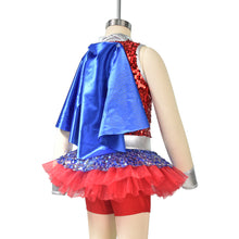 MiDee Charactor Costume Spiderman Superman Dance Performance Dress Jumpsuit for Girls