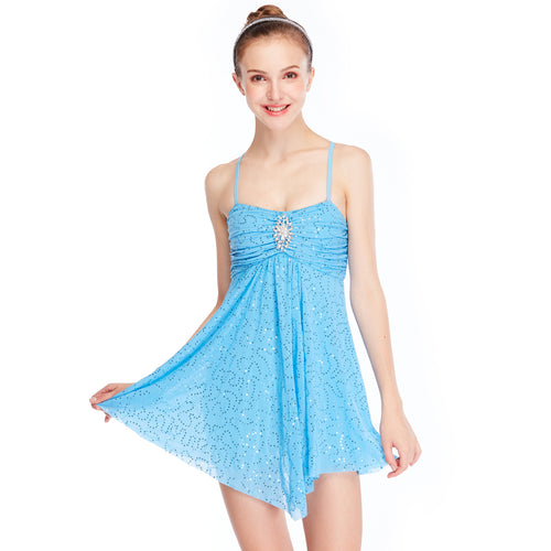 MiDee Fitting Soft Lyrical Cheap Camisole Dance Costume Dress For Performance