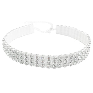 MiDee Accessory Rhinestone Tape Choker Sparkle Dance Accessory Circle Neck Wear Decoration CCK018