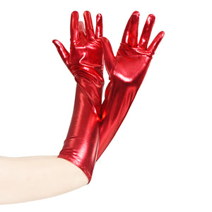 Foiled Full Fingers Gloves Arm Wear Accessories Arm Length Pull-on CGL034