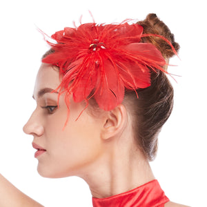 MiDee Luxurious Faritale Feather Hair Clip Hair Flower Eight Colors Feather Fancy Headpieces Accessories