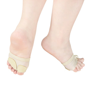 MiDee Half Sole 2 Holes Toes Thong Dance Shoes Lyrical Dancing Feet Pad
