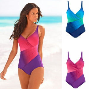 2020 New Swimwear Women Sexy Gradual Ombre One Piece Swimwear Manufacturer Direct Sales Popular Bikini Swimsuit