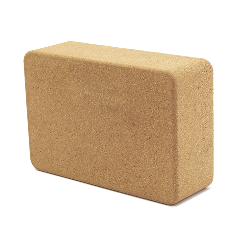 "MiDee Natural Cork Yoga Block Square High Density Wooden Yoga Brick 9""x6""x3"" 700g"