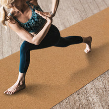 MiDee Cork Yoga Mat Wooden Exercise Mats Fitness Floor Pad Non-slip Softwood Wood Color High Qulity