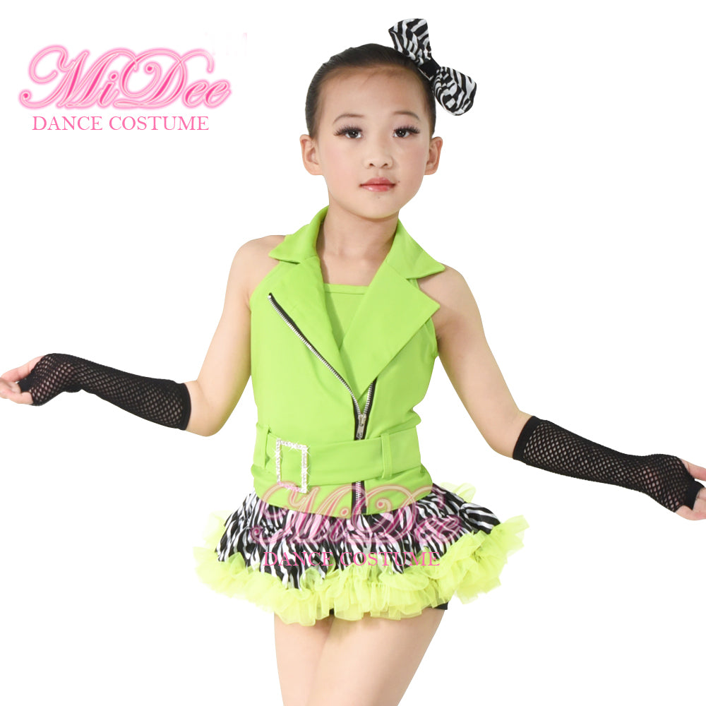 MiDee Cheerful Tap & Jazz Dancing Dresses Stage outfits For Children Girls