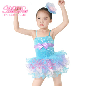 MiDee Ballet Clothes Girls Leotard Ballerina Tutu Contemporary Dance Costume