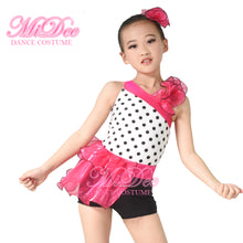 MiDee Polka Dot Bustle Biketard Jazz Dance Shorts Modern Latin Jazz Dance Costume