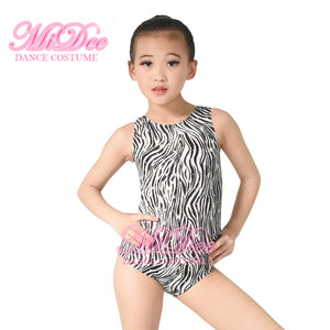 Animal Prints Basement Leotard Hologram Sequined Tank Leotards Zebra Dance Wear Performance Training