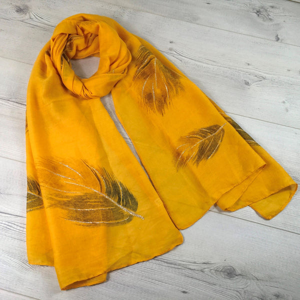 Feather Glitter Scarf