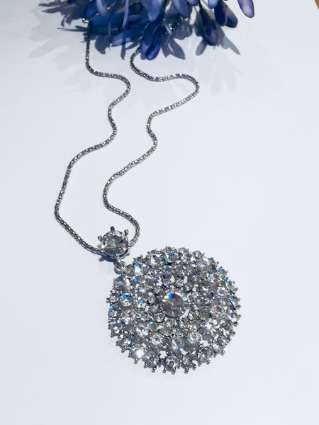 Diamante Statement Pendant
