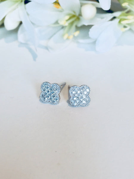 Earring-925 Silver Range, LV Shaped Stud