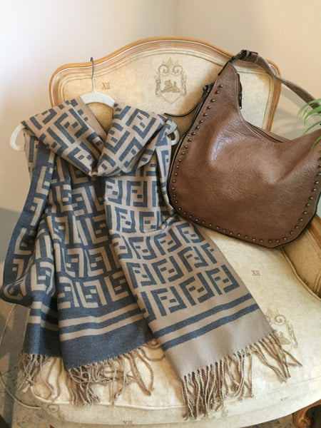 Super Soft Large Scarf Brown/Black