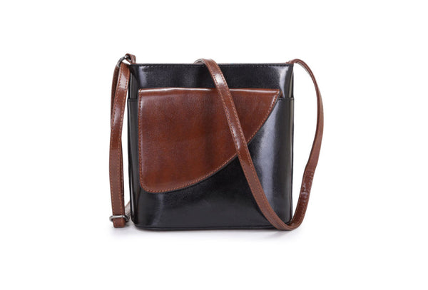 Casual Two Colour Cross body Bag