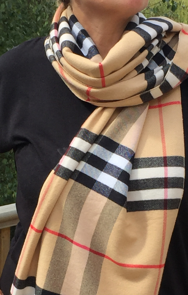 Supersoft Designer Look Check Scarf