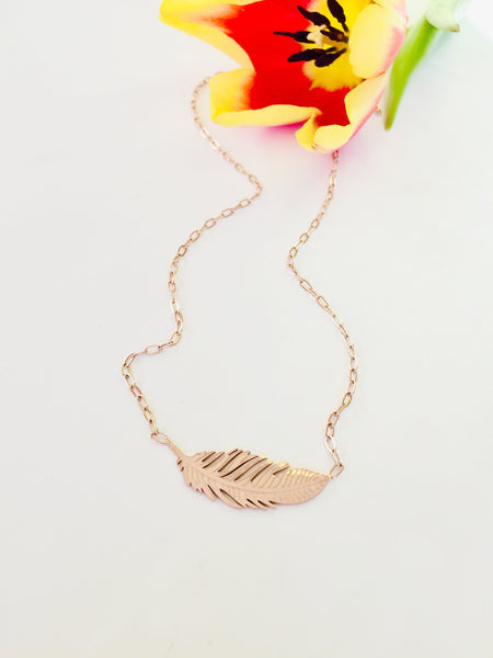 Delicate Feather Necklace