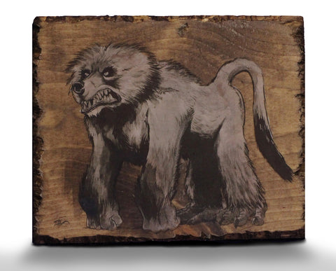 "'Bearboon""  ONE OF A KIND Signed Wood Print"