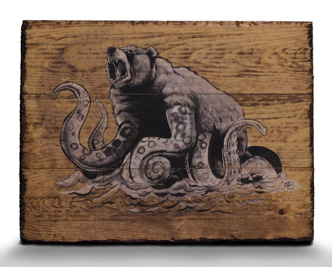 "'Octobear""  Limited Edition SIGNED Wood Print"